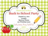 End Of School Year Party Invitation Wording End Of Summer Apple Back to School Party Invitation