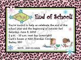 End Of School Year Party Invitation Wording She Sparkles End Of School Year Celebration