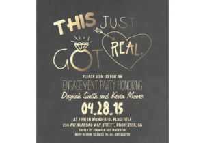 Engagment Party Invitations Fun Engagement Party Invitation This Just Got Real