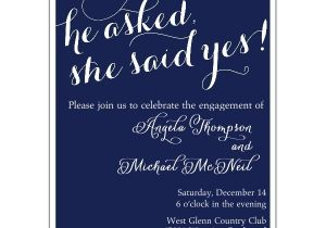 Engagment Party Invitations She Said Yes Engagement Party Invitations Paperstyle
