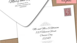Envelope Wedding Invitation Template Printable Wedding Envelope Template 5×7 Front and by
