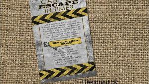Escape Room Party Invitation Escape Room Digital Printable Party Invitation Mystery