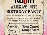 Escape Room Party Invitation Ideas Escape Room Birthday Party Invitations 1 00 Each Https