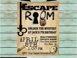 Escape Room Party Invitation Ideas Escape Room Mystery Puzzle Birthday Party Invitations