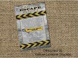 Escape Room Party Invitation Template Free Escape Room Digital Printable Party Invitation Mystery
