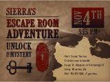Escape Room Party Invitation Template Free Printable Escape Room Party Invite Western Escape Room