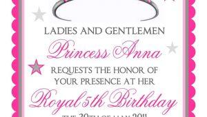 Etsy Birthday Invitation Template Princess Birthday Invitations Tiara by Littlebeaneboutique