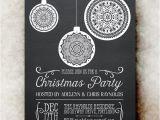 Etsy Christmas Party Invitations Items Similar to Chalkboard Christmas Party Invitation