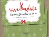 Etsy Christmas Party Invitations Reindeer Save the Date Christmas Party by Sweethammerpress