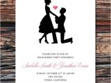 Etsy Engagement Party Invites Printable Diy Sweet Silhouette Proposal Engagement Party