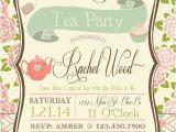 Etsy Tea Party Bridal Shower Invitations Tea Party Bridal Shower Invitation by Rawkonversations On