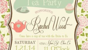 Etsy Tea Party Bridal Shower Invitations Tea Party Bridal Shower Invitation by Rawkonversations On