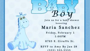 Evite Baby Boy Shower Invitations Giraffe Boy Baby Shower Invitation