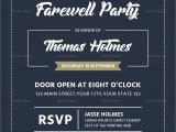 Example Invitation Card Farewell Party Farewell Party Invitation Card Design Template In Word
