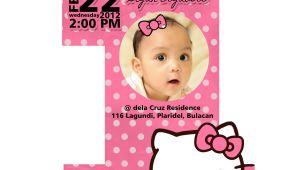 Example Of First Birthday Invitation Card F1 Digital Scrapaholic Hello Kitty 1st Birthday 2 Page