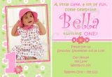 Example Of Invitation Card for 1st Birthday 1st Birthday Invitations Girl Free Template Baby Girl 39 S
