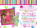 Example Of Invitation Card for Birthday 1st Year Birthday Invitation Cards Sample Best Party Ideas