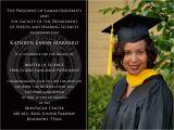 Examples Of College Graduation Invitations Invitation Graduation Templates