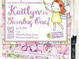 Fairy 1st Birthday Invitations Fairy Birthday Invitation Fairy themed Birthday Invitation