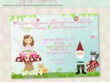 Fairy First Birthday Invitations Fairy Invitation Enchanted forest Fairy & Gnome Birthday
