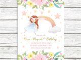 Fairy First Birthday Invitations Fairy Invitation Fairy Birthday Invitation Floral Fairy