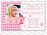 Fairy First Birthday Invitations Pink Fairy Birthday Invitation Custom Any Age Girl 1st