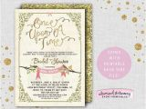 """Fairy Tale Bridal Shower Invitations Bridal Shower Invitation """" Ce Upon A Time"""" Printable"""
