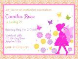 Fairy themed Birthday Invitation Fairy Birthday Invitation