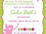 Fairy themed Birthday Invitation Wording Fairy Princess Birthday Party Invitation Birthday Party