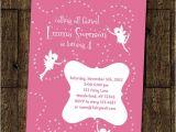 Fairy themed Birthday Invitation Wording Items Similar to Fairy Dance Birthday Party Invitation