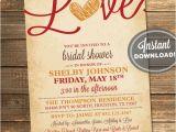Fall Bridal Shower Invitation Templates Items Similar to Fall In Love Bridal Shower Invitation
