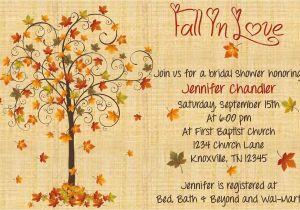 Fall Bridal Shower Invitations Free Autumn Bridal Shower Invitations Autumn Crafts Picture