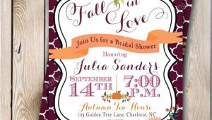 Fall Bridal Shower Invitations Free Fall Bridal Shower Invitation Autumn Bride Autumn Wedding