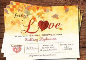 Fall Bridal Shower Invitations Free Fall Bridal Shower Invitation Fall In Love Bridal Shower