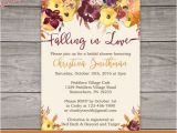 Fall Bridal Shower Invitations Free Fall Bridal Shower Invitations Fall Floral by