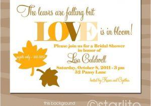 Fall Bridal Shower Invitations Free Fall theme Autumn theme Bridal Shower Invitation Fall