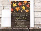 Fall Housewarming Party Invitations Autumn Housewarming Invitations Rustic Falling Leaves