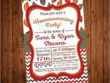 Fall Housewarming Party Invitations Fall Leaves Printable Housewarming Party Invite