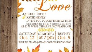 Fall themed Engagement Party Invitations Fall Engagement Party Invitations