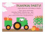 Fall themed Party Invitations Fall Farm theme Party Invitation 5 Quot X 7 Quot Invitation Card