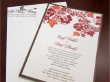 Fall themed Wedding Invitations Cheap Red and orange Wedding Invitation A Vibrant Wedding