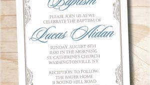 Fancy Baptism Invitations Fancy Baptism Custom Baptism Invitation Christening