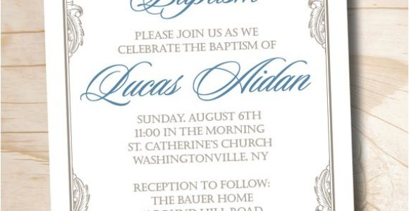 Fancy Baptism Invitations Fancy Baptism Custom Baptism Invitation Christening