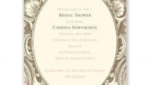 Fancy Bridal Shower Invitations Fancy Frame Petite Bridal Shower Invitation