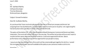 Farewell Party Invitation Letter Template Farewell Party Invitation Letter Sample