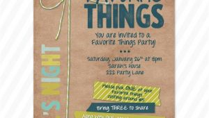 Favorite Things Birthday Party Invitation Favorite Things Party Invite