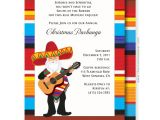 Fiesta Christmas Party Invitations Mexican Santa Christmas Invitation First Comes Love then
