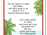 Fiesta Christmas Party Invitations Tropical Holiday Beach Party Invitations Christmas