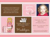 Fifth Birthday Party Invitation Wording 5th Birthday Invitation Wording Ideas Bagvania Free
