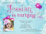 Fifth Birthday Party Invitation Wording 5th Birthday Party Invitation Wording Cimvitation